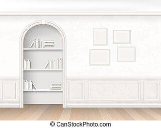 niche, boekjes , planken