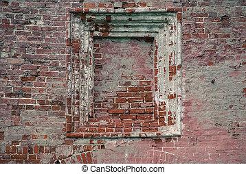niche in old brick wall