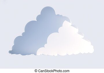 niche in the form of clouds on a wh