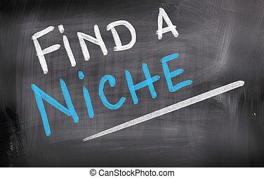 nicho, conceito, achar