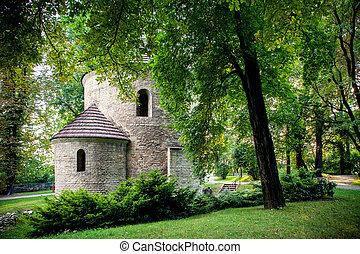 nicholas de st, colina, castillo, rotonda