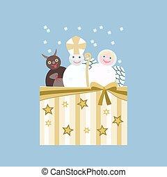 Nicholas, devil, angel - Central european Christmas theme ...