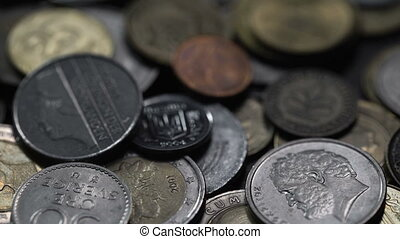 nickel and copper coins of different countries of the world