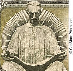 Nicola Tesla on 100 dinars 1994 banknote from Yugoslavia....