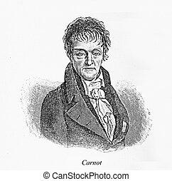 Nicolas Léonard Sadi Carnot, engraving portrait