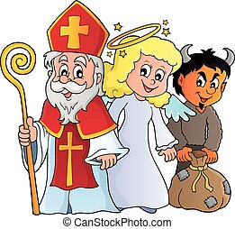 nicolas, thème, jour, saint, 1