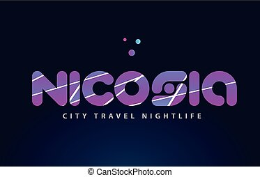 nicosia european capital word text typography design