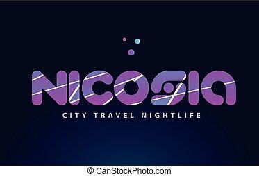 nicosia european capital word text typography design