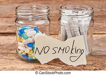 Nicotine addiction harmful for life.