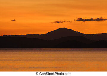 Nicoya Gulf in twilight, Costa Rica - Gulf of Nicoya in ...