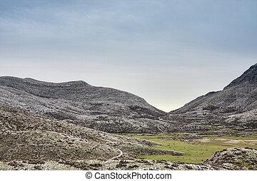 Nida Plateau - Morning landscape in the Nida Plateau in...