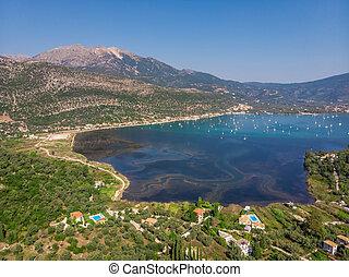 Nidri bay Lefkada Greece.