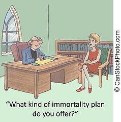 nieśmiertelność, plan