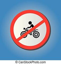 nie, motocykl, znak