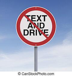 nie, texting, napędowy, dozwolony