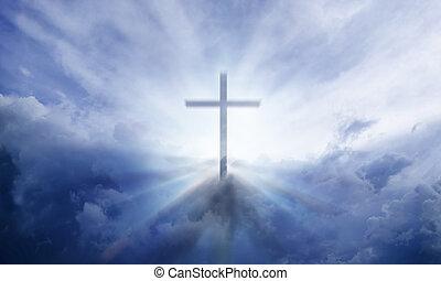 niebieski, krzyż