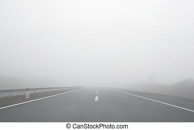 niebla, paseo