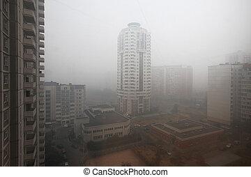 niebla tóxica, en, ciudad