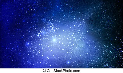 niebo, abstrakcyjny, błękitny, przestrzeń