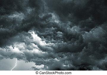 niebo, burza