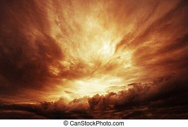 niebo, burzowy