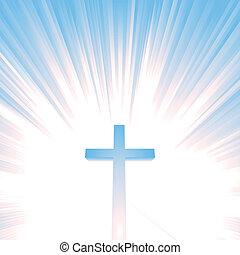 niebo, chrześcijanin, krzyż