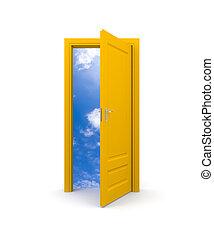 niebo, drzwi