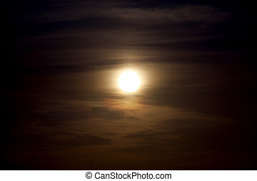 niebo, dynamiczny, pochmurny, tło