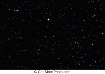 niebo, gwiazdy, barwny, noc