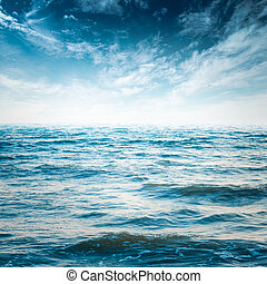 niebo, i, ocean