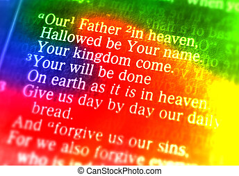 niebo, lord's, ojciec, -, modlitwa, nasz