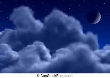 niebo, noc