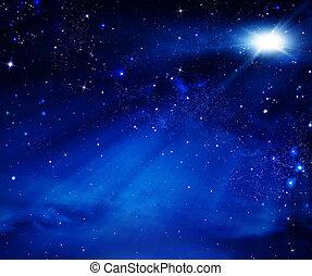 niebo nocy, tło, przestrzeń