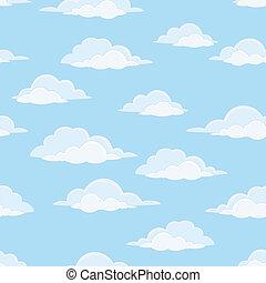 niebo, z, chmury, seamless