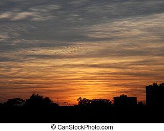 niebo zachodu słońca