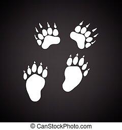 niedźwiedź, ślady, ikona