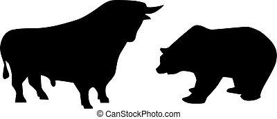 niedźwiedź, byk