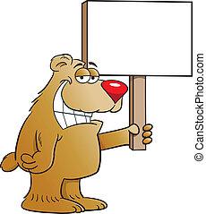 niedźwiedź, dzierżawa, znak