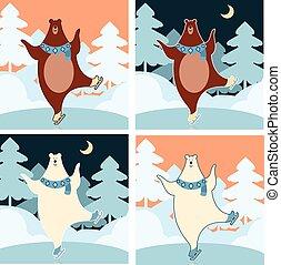 niedźwiedź, lód