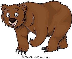 niedźwiedź, rysunek, ilustracja