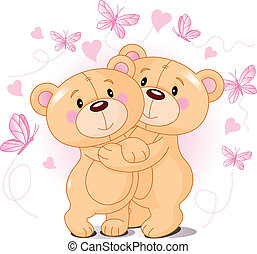 niedźwiedź, teddy, miłość