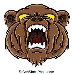 niedźwiedź, twarz