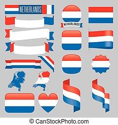 niederlande, flaggen