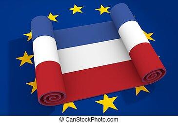 niederlande, und, european union, relationships., nexit, metapher