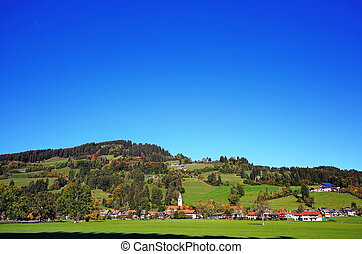 Niedersonthofen is a village in Bavaria, Germany in the middle of wonderful landscape