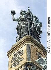 Niederwald Monument near Ruedesheim, Germany