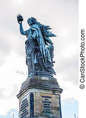 Niederwald monument, Ruedesheim, Rheinland-Pfalz, Germany - ...