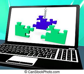 niedokończony, laptop, twórczość, stosunek, zagadka, widać