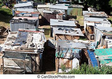nieformalny, osada, w, południowa afryka
