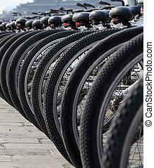 niejaki, hałas, od, bicycles